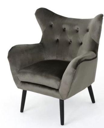 black grey accent chair