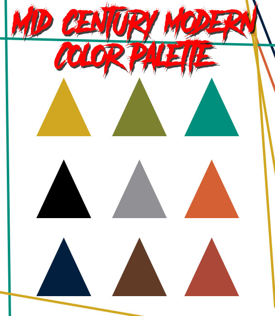 Mid century modern color palette by Furnish Him