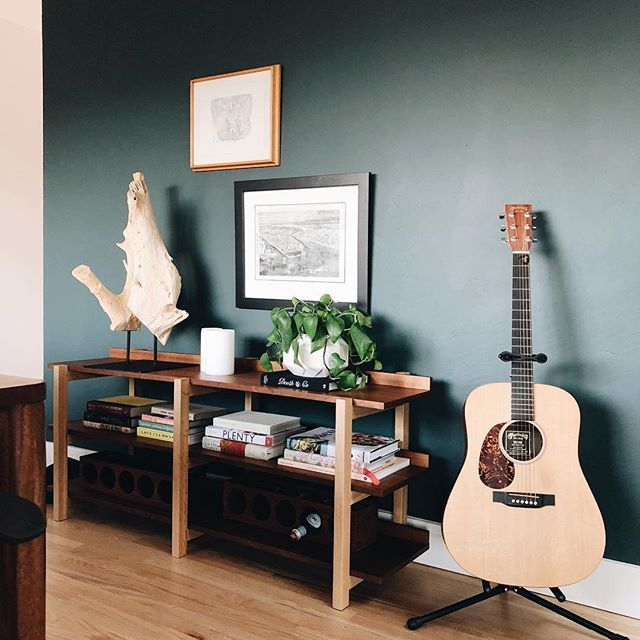sophisticated green wall