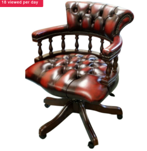 Awesome Chesterfield  captains chair- nautical design inspiration.