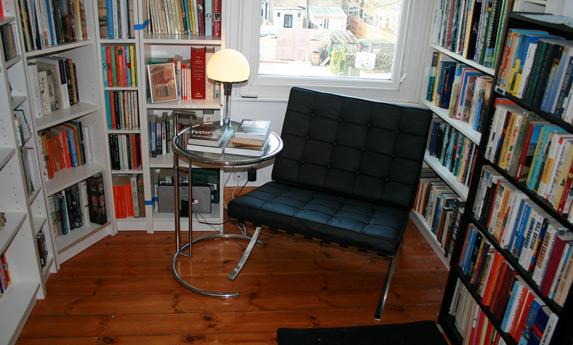 Barcelona chair reading corner