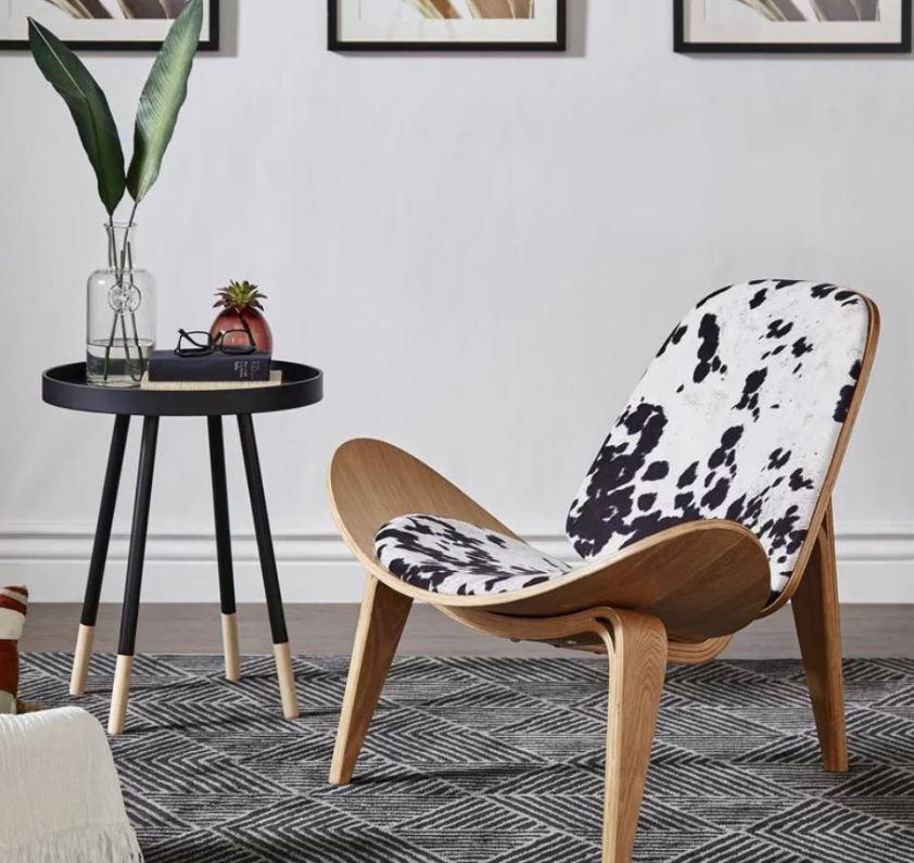 Mid-Century modern cow chair